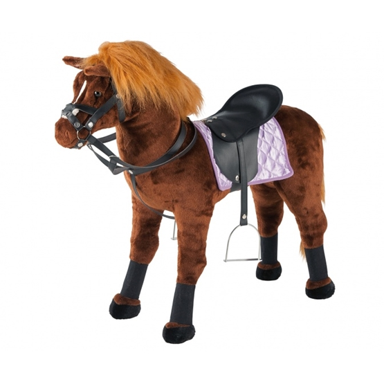 Happy People - Jumping Horse With Sound 80 X 30 X 70 Cm Plush Brun