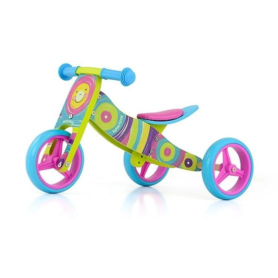Milly Mally - Balanscykel - 2-In-1 Loopfiets Jake Regenboog Junior Multicolor