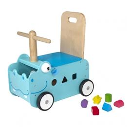 Im Toy - Gåbil Med Förvaringslåda Hippo 45 Cm Blå