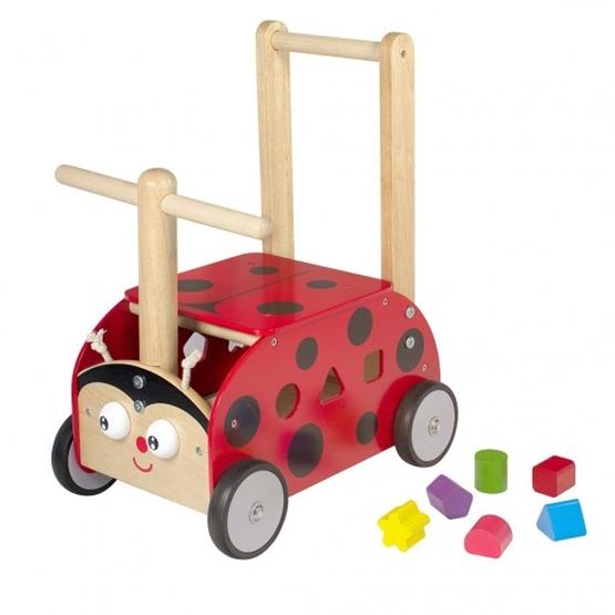 Im Toy - Ladybug Trolley And Pushchair Junior 45 Cm Röd