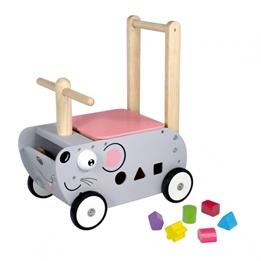 Im Toy - Gåbil Med Förvaring Mouse 45 Cm Grå