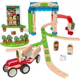 Fisher Price - Construction Kit Wonder Makerscity Wood 75-Piece