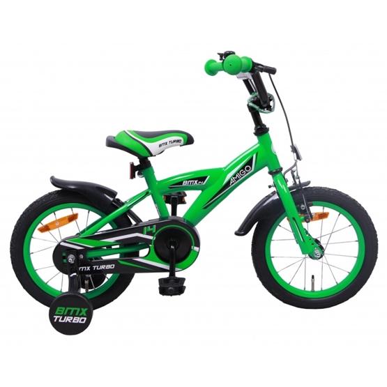 Amigo - BMX Cykel - Bmx Turbo 14 Tum Grön