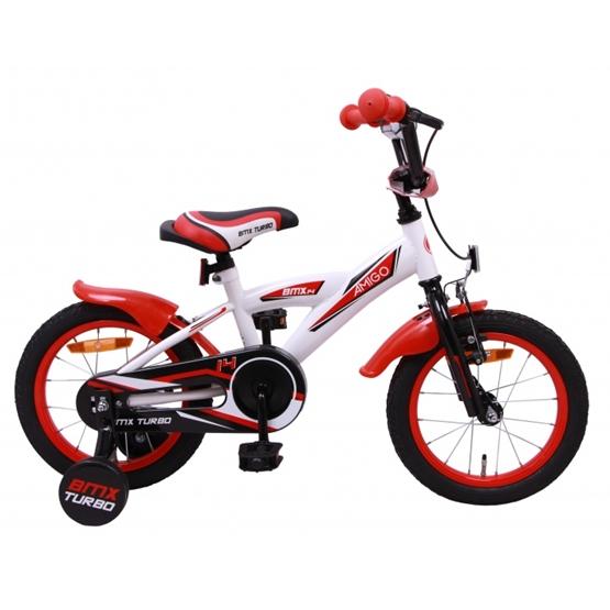 Amigo - BMX Cykel - Bmx Turbo 14 Tum Vit