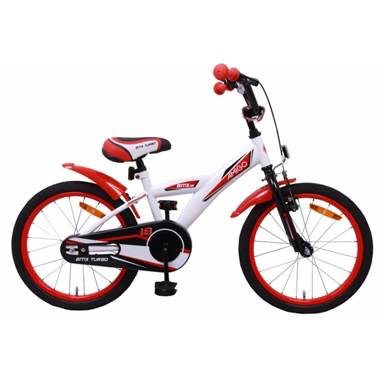 Amigo - BMX Cykel - Bmx Turbo 18 Tum Vit