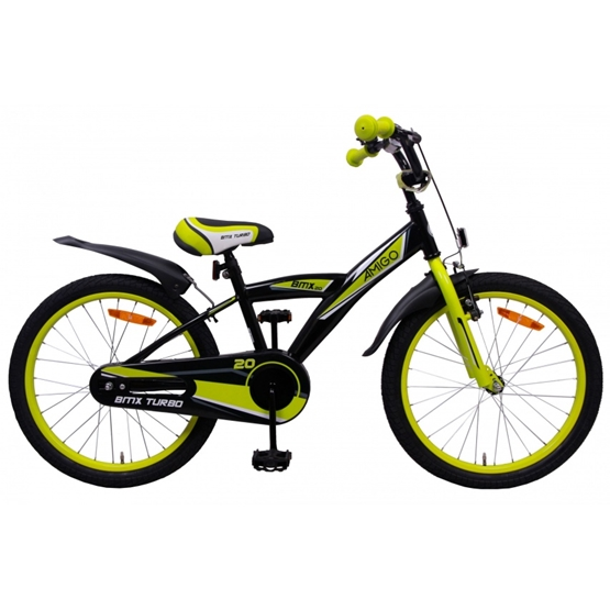 Amigo - BMX Cykel - Bmx Turbo 20 Tum Svart
