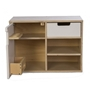 Mamamemo - Wooden Kitchen Cabinet With Fridge 36 Cm