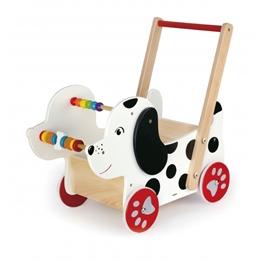 Viga Toys - Gåvagn Dog 47 Cm Vit/Svart