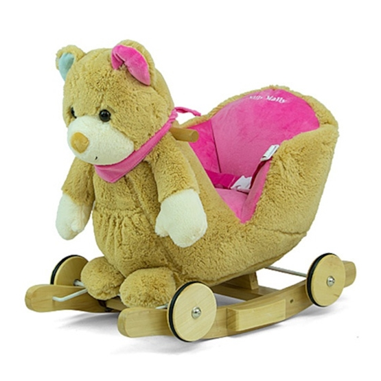Milly Mally - Gunghäst Pollyfigure Bear Brun/Rosa