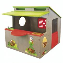 Paradiso Toys - Lekstuga Kiosk Brun/Grön/Röd