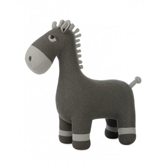 Pericles - Mjukisdjur Häst Knitted 37 Cm Grå