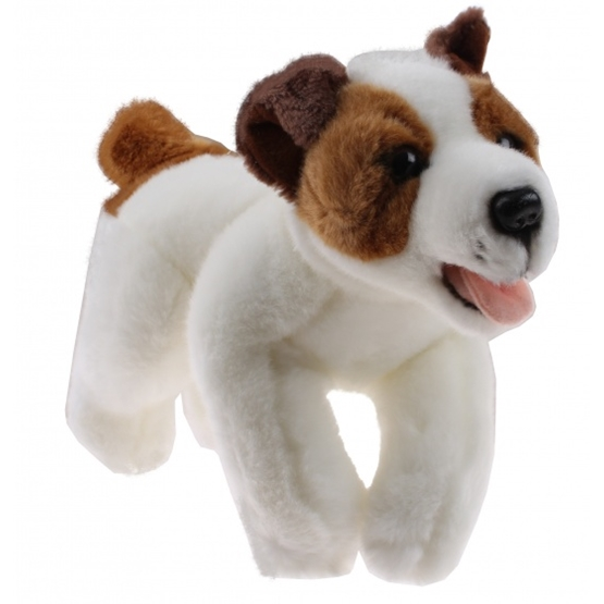 Tom - Cuddly Dog 23 Cm Vit/Brun
