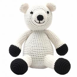 natureZOO - Mjukisdjur Isbjörn Xl Crocheted 40 Cm Vit