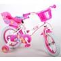 Disney - Barncykel - Princess 14 Tum Vit/Rosa