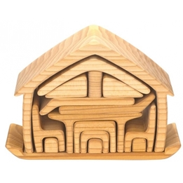 Glackskafer - Wooden House With Furniture 22 Cm Blank 16-Piece