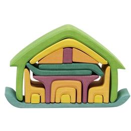 Glackskafer - Trähus Med Möbler Mångfärgad 16 Delar