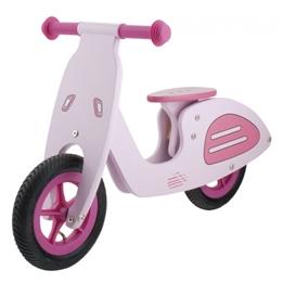 Kids Club - Balanscykel - Loopfiets Vespa 10 Tum Rosa