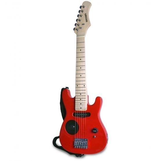 Bontempi - Elektrisk Gitarr Wood 6 Strings 770 Mm Röd