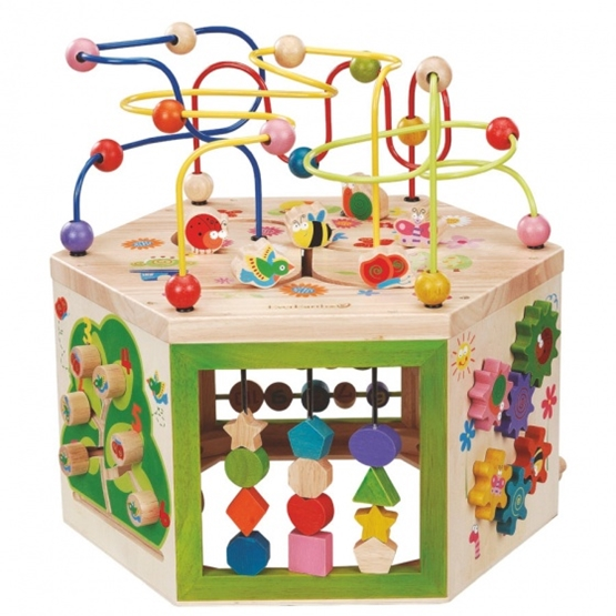 Everearth - Activity Cube 7 Sides 45X35 Cm