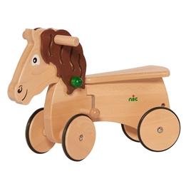 Nic - Gåbil Combicar Horse 26 Cm Brun