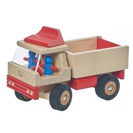 Walter - Truck 25 Cm Wood Clear/Röd