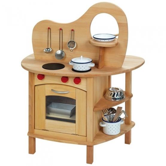 Glackskafer - Play Kitchen Brun Wood Junior 73 X 51 X 92 Cm