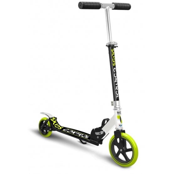 Skids Control - Sparkcykel - Vouwstep Junior Fotbroms Svart/Grön