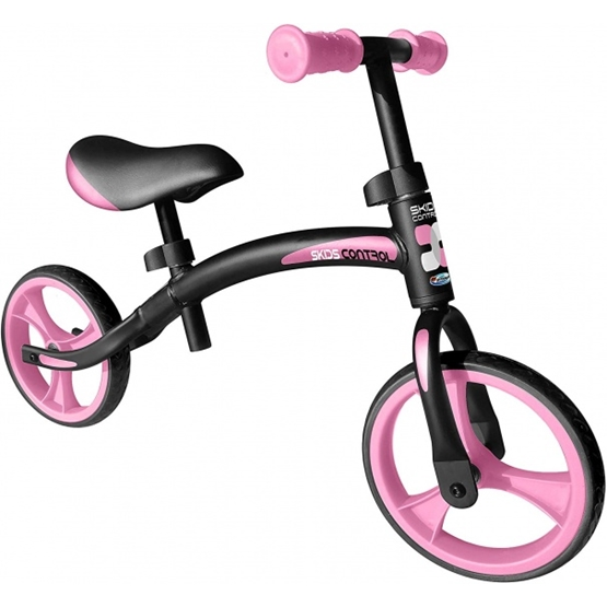 Skids Control - Balanscykel - Loopfiets 10 Tum Junior Svart/Rosa