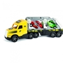 Wader - Car Transport Truck With Two Retro Cars 79 Cm Gul