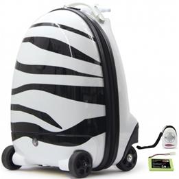 Jamara - Resväska - Zebra Junior 32 Liter Polyester Svart/Vit