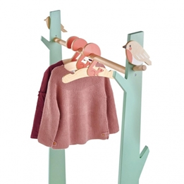 Tender Leaf Toys - Clothes Rack With Clothes Hangers Grön Junior