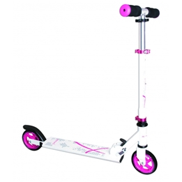 Muuwmi - Sparkcykel - Stuntstep Junior Fotbroms Rosa/Vit