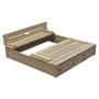 Swing King - Sandlåda Robert120 X 120 X 25 Cm Fsc Wood Blank