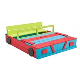 Swing King - Sandlåda Car 120 X 100 Cm Wood Blå/Grön/Röd