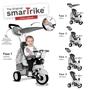 Smartrike - Barnvagn - Dazzle 5-In-1 Junior Svart/Vit