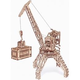 Wood Trick - Modelleksak Kran Med Container
