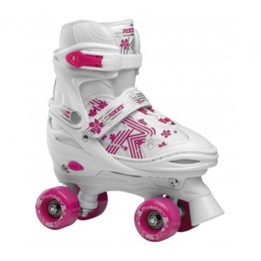 Roces - Quaddy 3.0 Roller Skates Vit/Rosa 26-29