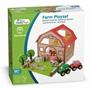 New Classic Toys - Farm Play Set 26,8 Cm Wood Brun 15-Piece
