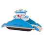 New Classic Toys - Ferry Havenlijnjunior 44 Cm Wood Blå