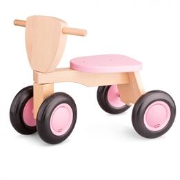 New Classic Toys - Balanscykel - Balance Bike Road Star 4 Wheels 50 Cm Wood Rosa