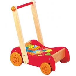 Lelin Toys - Gåvagn / Klosslåda Röd