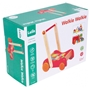Lelin Toys - Pusher / Trolley Walkie Junior Wood Röd 2-Part