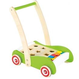 Lelin Toys - Gåvagn Med Sorteringslåda Grön