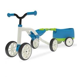 Chillafish - Fyrhjuling - Quadie Loopfiets Met Trailer Blå/Grön