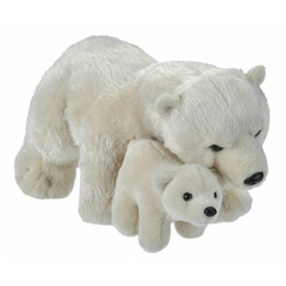 Wild Republic - Mjukisdjur Isbjörn 30 Cm Vit 2 Stycken