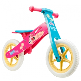 Disney - Balanscykel - Loopfiets Minnie Mouse 12 Tum Rosa/Blå