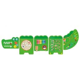 Viga Toys - Väggspel Krokodil 187 X 61 Cm Trä Grön 5 Delar