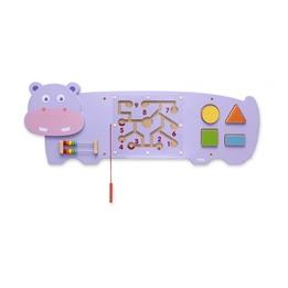 Viga Toys - Väggspel Flodhäst 91 X 32 Cm Trä Lila