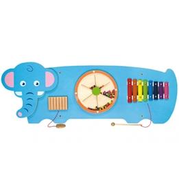 Viga Toys - Väggspel Elefant Trä Blå