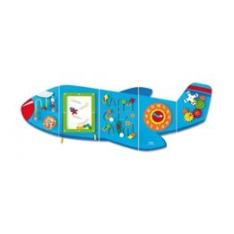 Viga Toys - Väggspel Flygplan 180 Cm Trä Blå 5 Delar